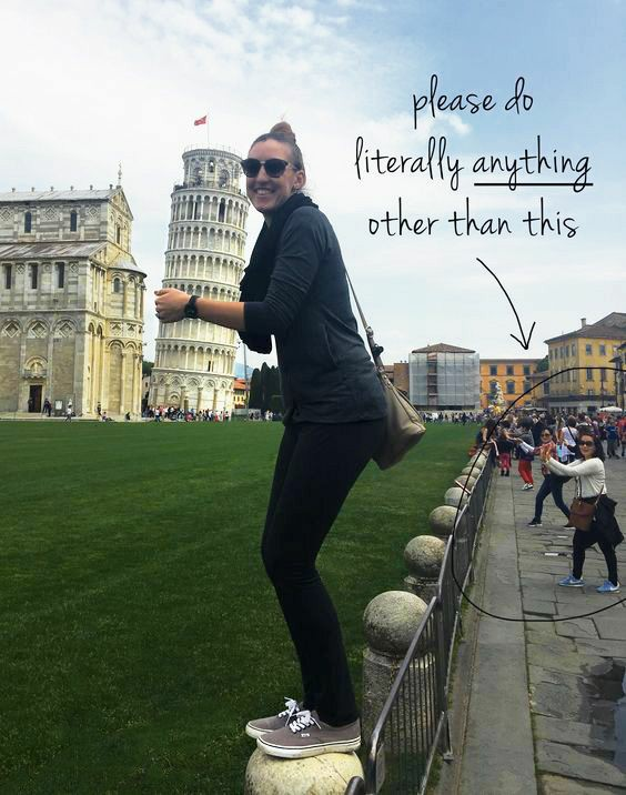 100+ Creative  Poses With The Leaning Tow Of Pisa
